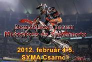 Nemzetközi Terem- Motocross Verseny a Syma Csarnokban.