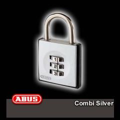 ABUS táskalezáró lakat Combi Silver