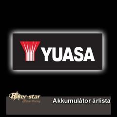 YUASA Akkumulátor árlista