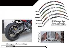 PROGRIP Racing Kerék Díszcsík (8 db-os, fényvisszaverős, 6 színben)