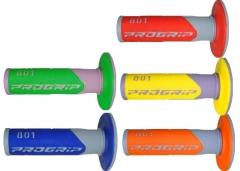PROGRIP Cross és Enduro markolat (Cross kétszínű (kék, piros, sárga, narancs, zöld, szürke betéttel)