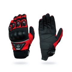 B-STAR Dakar, karbonprotektoros textil kesztyű, piros (8096, GMC14)