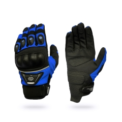 B-STAR Dakar, karbonprotektoros textil kesztyű, kék (8096, GMC14)