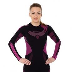 Brubeck Body Guard Dry, női, technikai felső fekete-rózsaszín