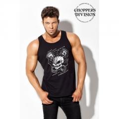 CHOPPERS DIVISION férfi trikó, X-Skull