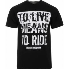 CHOPPERS DIVISION rövidujjú póló, Live to Ride