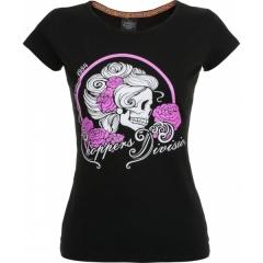 CHOPPERS DIVISION női rövid ujjú póló, Skull Lady