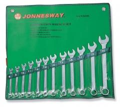 Jonnesway csillag-villáskulcs, 12 db-os készlet 8-22mm-ig