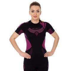 Brubeck Body Guard Dry női, rövidujjú technikai felső fekete-rózsaszín