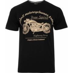 CHOPPERS DIVISION Free spirit Motorcycle Rövid Ujjú Férfi Póló