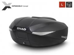 SHAD SH58X bővíthető, professzionális, karbonmintás túradoboz 46-58L