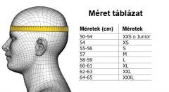 Felnőtt bukósisak méret táblázat