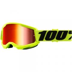 100százalék Strata MX Goggles Neon Yellow