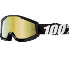 100százalék Strata MX Goggles Fekete/fehér