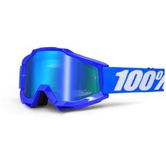 100százalék ACCURI REFLEX BLUE OFFROAD GOGGLE W MIRROR BLUE LENS 2601-1494