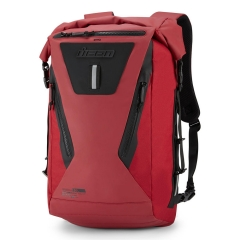 ICON DREADNAUGHT™ ROLLTOP RED motoros hátitáska