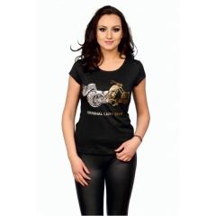 CHOPPERS DIVISION női rövid ujjú póló, Golden Silver