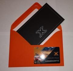 Ajándékkártya csomagolás élménykártyákhoz
