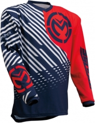 MooseRacing S20 Qualifer cross póló piros-fehér-kék