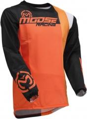 MooseRacing S20 Sahara cross póló narancs-fekete