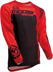 MooseRacing S20 Sahara cross póló piros-fekete