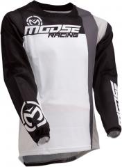 MooseRacing S20 Sahara cross póló fekete-fehér