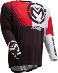 MooseRacing S20 M1 cross póló fekete-piros