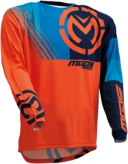 MooseRacing S20 M1 cross póló narancs-kék