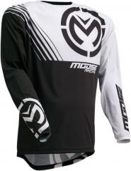 MooseRacing S20 M1 cross póló fekete-fehér