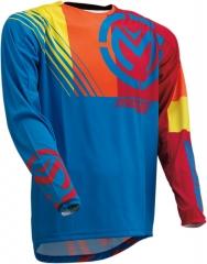 MooseRacing S20 M1 cross póló kék-színes