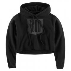 Icon Női Stacker Crop kapucnis pullover