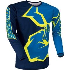 MooseRacing S2Y Qualifier gyerek cross póló kék-dekorált