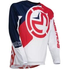MooseRacing S2Y Qualifier gyerek cross póló piros-fehér-kék
