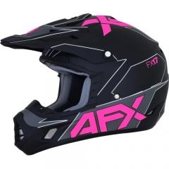 AFX FX-17 cross bukósisak matt fekete/pink