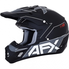 AFX FX-17 cross bukósisak matt fekete/féhér
