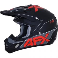 AFX FX-17 cross bukósisak matt fekete/piros