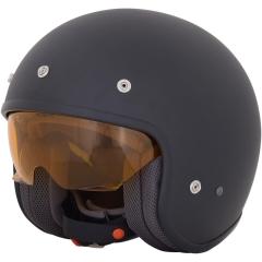 AFX FX-142 matt fekete, beépített szemüveges, nyitott bukósisak