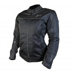 Kabát textil hálós női fekete 2095