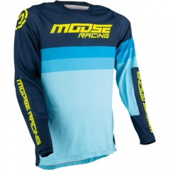 MooseRacing Sahara cross póló navy-kék