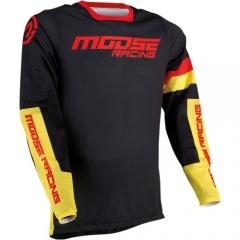 MooseRacing Sahara cross póló fekete-sárga
