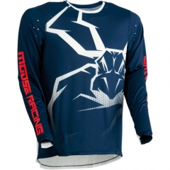 MooseRacing Agroid cross póló navy-fehér