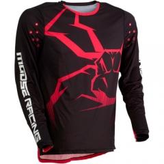 MooseRacing Agroid cross póló fekete-piros