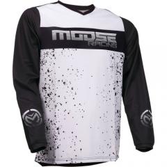 MooseRacing Qualifier cross póló fekete-szürke