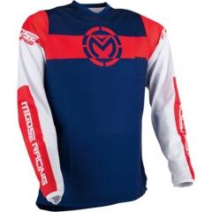 MooseRacing Qualifier cross póló piros-fehér-kék