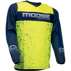 MooseRacing Qualifier cross póló navy-fluo