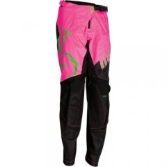MooseRacing Agroid Qualifier gyerek cross nadrág fekete-pink-zöld