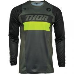 THOR Pulse Racer cross póló khaki-fluo
