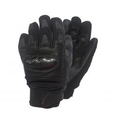 Alpha protektoros carbon kevlar textil gyerek kesztyű, fekete