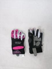 Alpha protektoros carbon kevlar textil gyerek kesztyű, pink