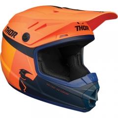 Thor Sector Racer & Solid gyerek cross bukósisak narancs-kék